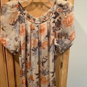 Light, summery, short sleeve blouse by Joie